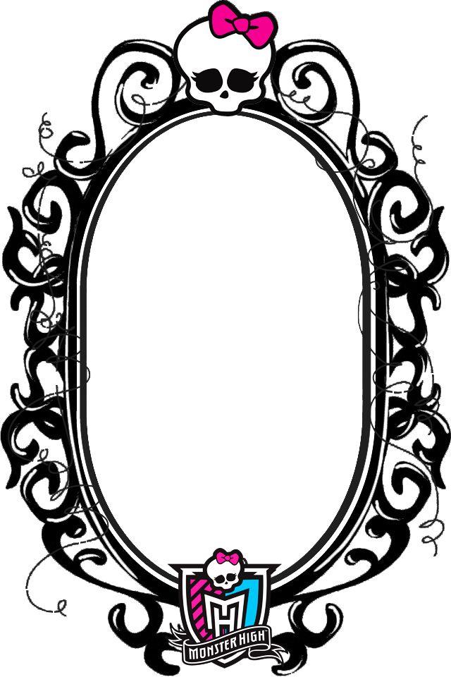 Sensacionales Marcos para Fotos de Monster High.   Marcos Gratis .