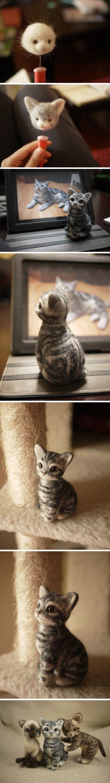 羊毛毡手作——猫