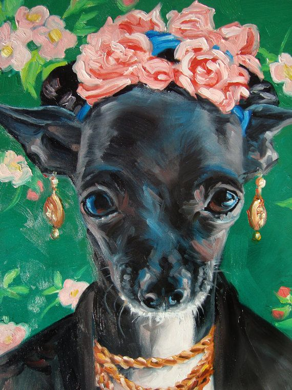Chihuahua Winnie IS Frida Kahlo pet costume by puciPetPortraits