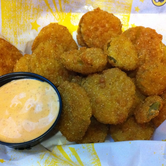 Deep Fried Pickles! So good! From Buffalo Wild Wings!!
