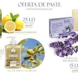 Oferta de Paste la cosmetice bio. Only Natural vine cu o oferta irezistibila!