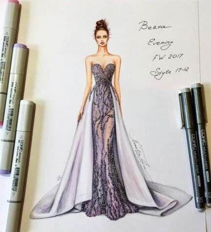 Neue #Mode #Abbildung #Kleid #Abend #Kleider #Ideen ## f
