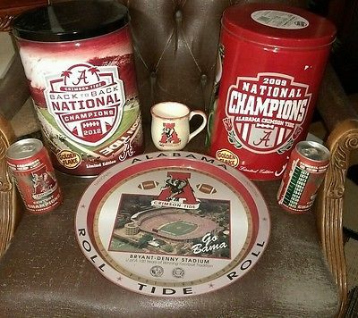 Alabama-crimson-tide-TRAY-tin-canisters-COCA-COLA-coffee-mug