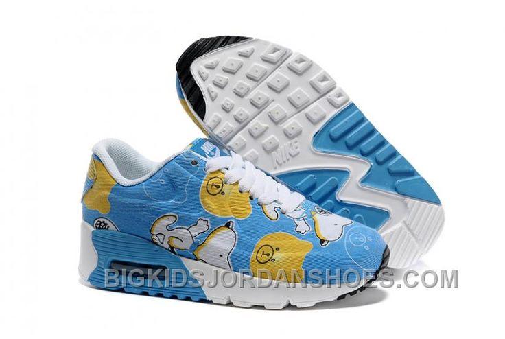 http://www.bigkidsjordanshoes.com/new-arrival-kids-nike-air-max-90-hyperfuse-comic-blue-white.html KIDS NIKE AIR MAX 90 HYPERFUSE COMIC BLUE WHITE FOR SALE Only $85.00 , Free Shipping!