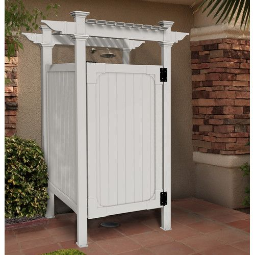 found it at wayfair hampton outdoor vinyl shower kit
