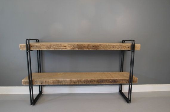Bookcase Shelving Unit Reclaimed Wood Industrial Steel by DendroCo