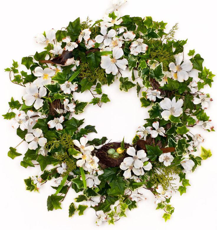 Dogwood & Ivy Spring Wreath