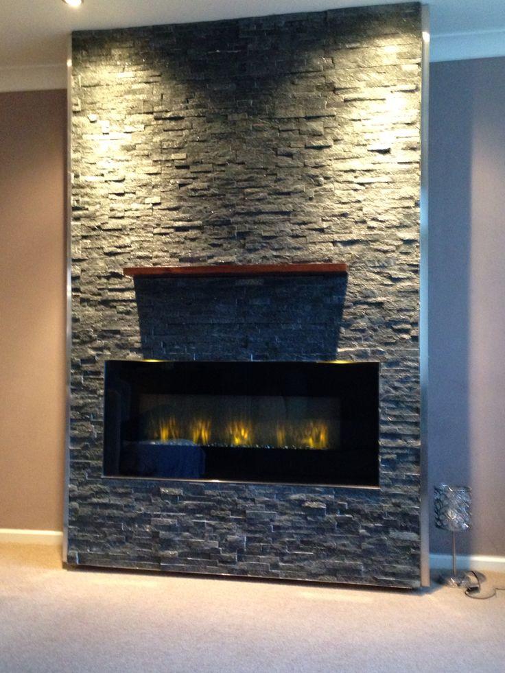 Tiled chimney breast built ins pinterest for Tiled chimney breast images
