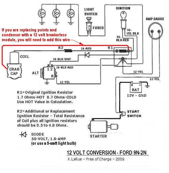 Ford Tractor 12 Volt Conversion Wiring Diagrams 9n 2n In 2020 Ford Tractors Tractors Diagram