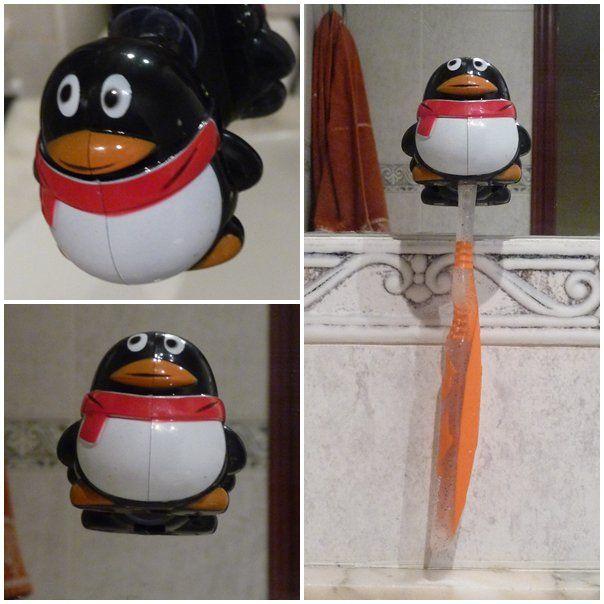 Mi Pingüino porta cepillo de dientes. Lo usa mi hijo y me lo regaló Dani...Daniel de la Vara #penguin