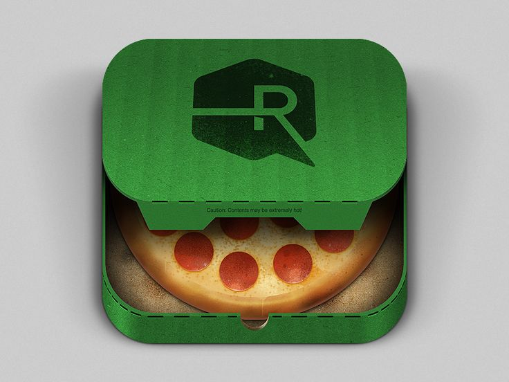 Pizza App iOS Icon by Ryan Ford