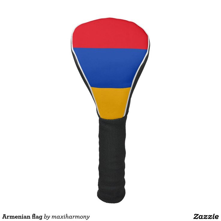 Armenian flag golf head cover