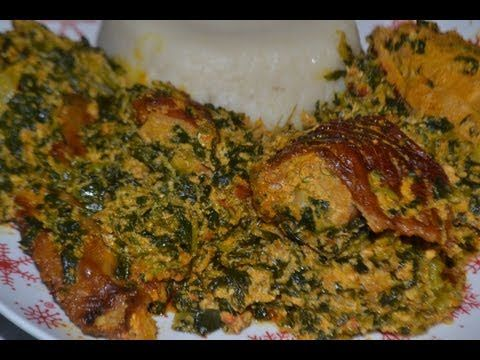 Gboma dessi - spinach stew - Sauce d'epinards (cuisine togolaise)