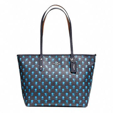CITY ZIP TOTE IN BADLANDS FLORAL PRINT COATED CANVAS