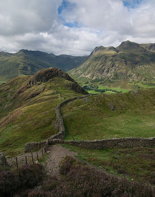 Drystone Walls in Lingmoor Fell, Cumbria, England