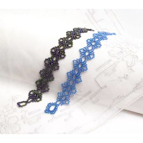 Free Beading Pattern: Round Lace Bracelet  by Sandra D. Halpenny at Bead-Patterns.com