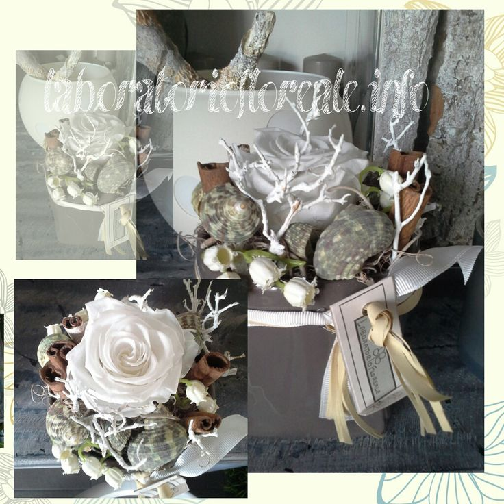 rose stabilizzate bianche
