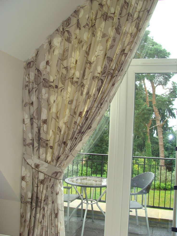 curtains on slanted windows - Google Search