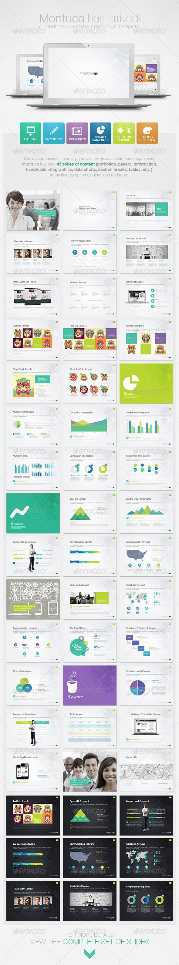 Montuca Powerpoint Presentation Template #powerpoint #template #clean #calm #simple #easy #bestDesign #graphicriver