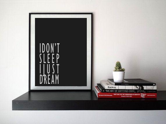 I just dream  True Detective Quote Printable Graphics  di HubLab