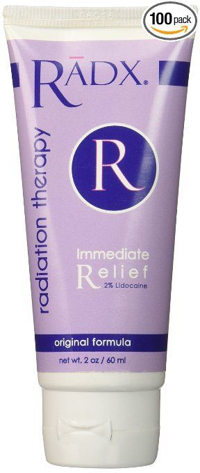 Lots To Live For - RADX Radiation Therapy, $29.00 (http://www.lotstolivefor.com/radx-radiation-therapy/) RELIEVES PAIN!  IF YOU ARE EXPERIENCING PAIN FROM RADIATION BURNS RADX RADIATION THERAPY WILL HELP! RĀDX Radiation Therapy is made with an organic aloe base and lidocaine and several other ingredients that are beneficial to the skin. RĀDX Radiation Therapy numbs pain, helps heal burning, irritation, redness and general skin breakdown and replenishes moisture.