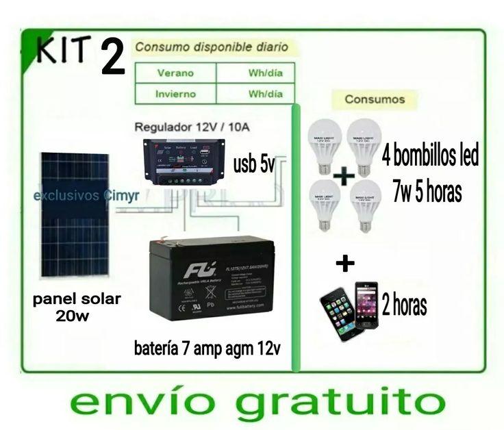 energia electrica gratis kit planta solar panel bombillo 12v