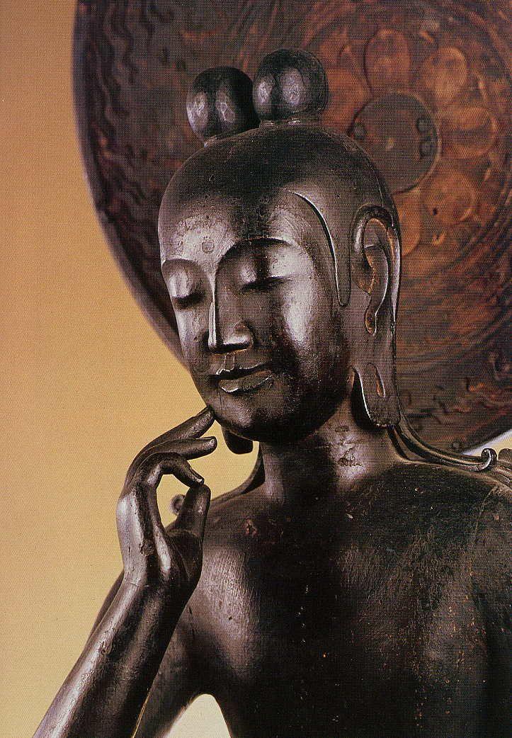 奈良 法興山中宮寺 木造菩薩半跏像