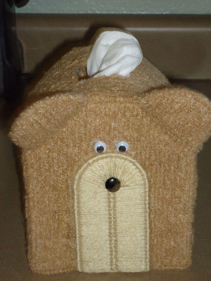 bear tissue box cover