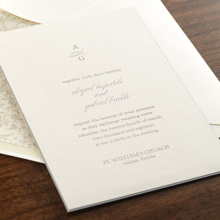 40 best TIMELESS WEDDING INVITATIONS images on Pinterest