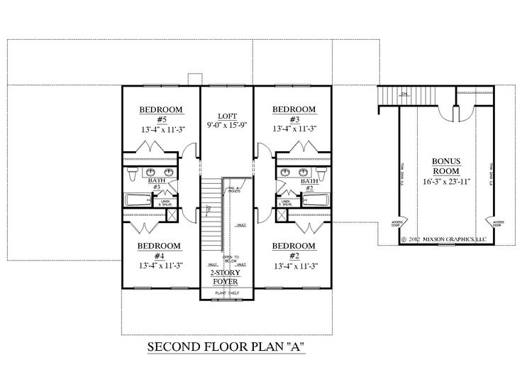 1000 images about two story house plans on pinterest for How big is a two car garage square feet