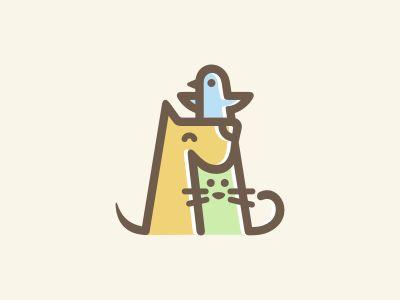 Bird, dog and cat 2