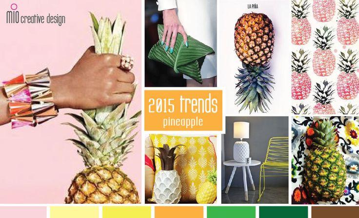 Spring 2015 Trend Pineapple Home Pinterest