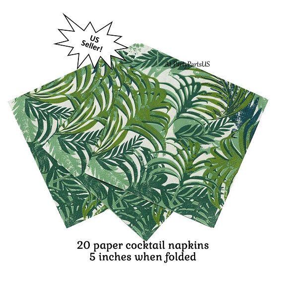 Fern Leaf Palm Leaves Tropical Foliage Helium Balloon Hawaiian Decoration