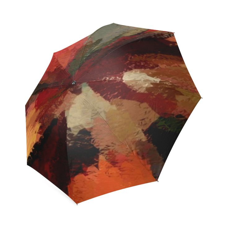 Autumn Radials Foldable Umbrella by Khoncepts.com