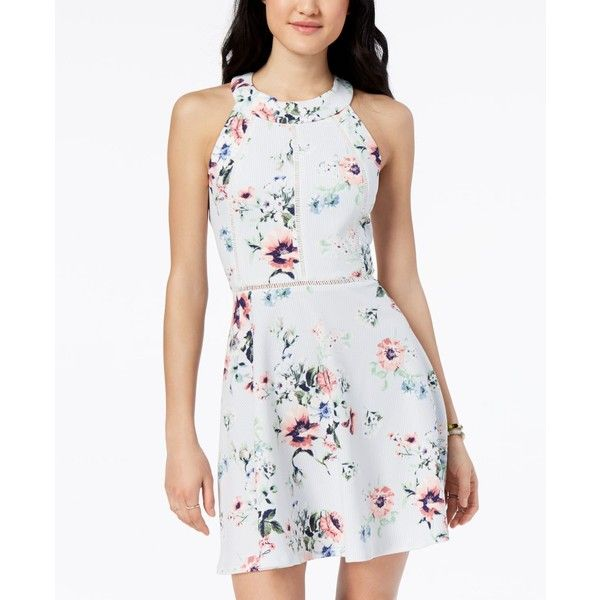 White Fit and Flare Dresses for Juniors