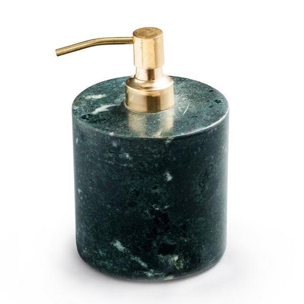 Sæbedispenser grøn marmor / messing