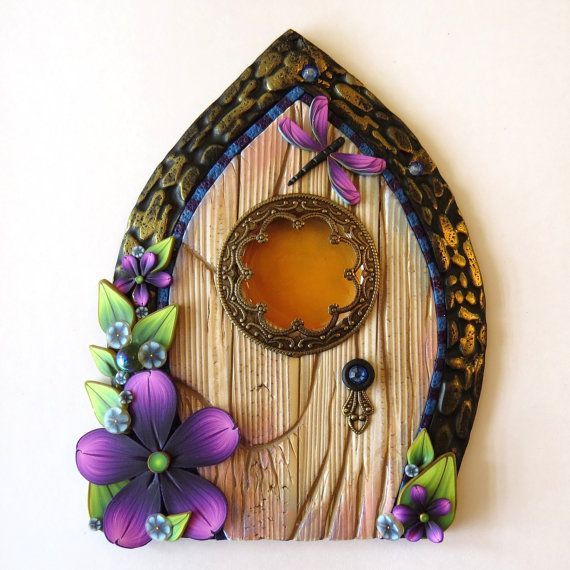 Window fairy door pixie portal miniature fairy door by for Mini fairy door