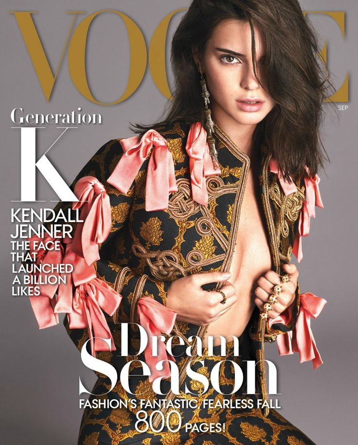 NO ONE WEARING A BRA THIS SUMMER. // Kendall for Vogue