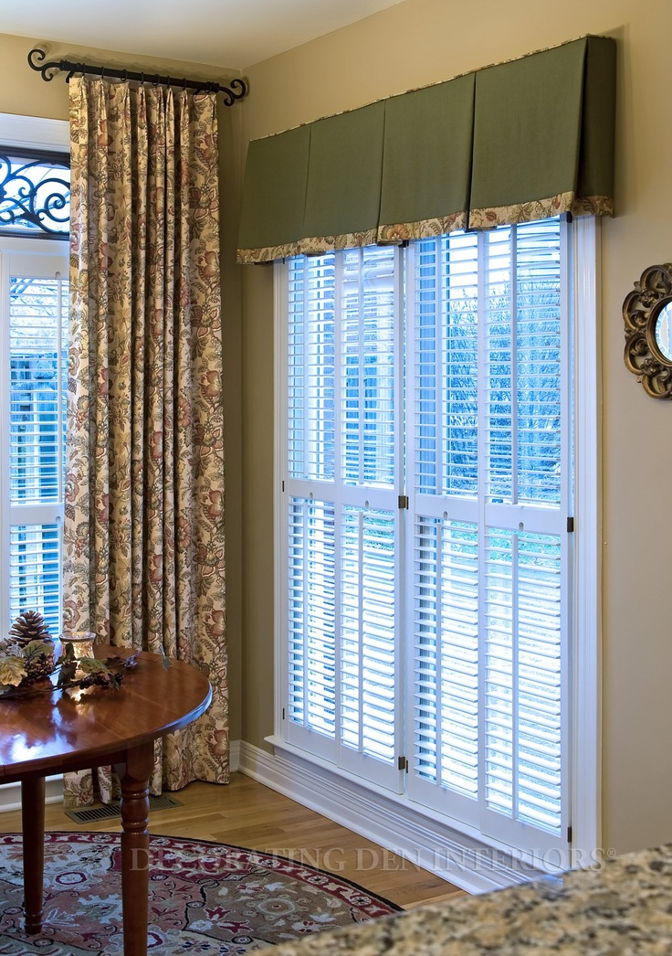 contrasting fabrics next to each other drapes for slider solids or near solid effect for narrow windows adjacent and mix over two multiple windows