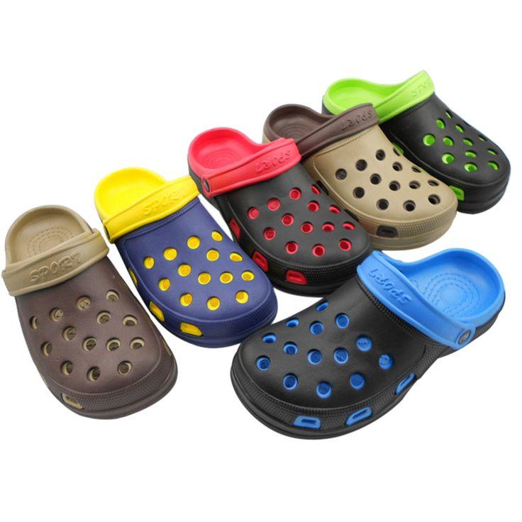 Новый Мужской Моды мужские Сандалии Anti-Slip Отверстие Тапочки Дома Сад Желе Обувь Мулы и Сабо Дышащие Пляж ЕВА Обувь O531 #women, #men, #hats, #watches, #belts, #fashion