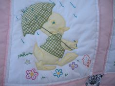 Vintage Baby Quilt by onebeelane on Etsy