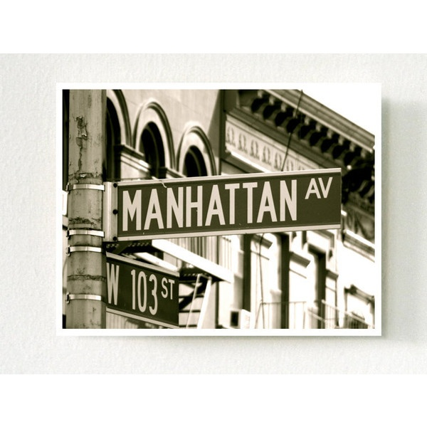 New York Photos - Manhattan Avenue, New York City - 11 X 14 Inch Print... ($35) ❤ liked on Polyvore