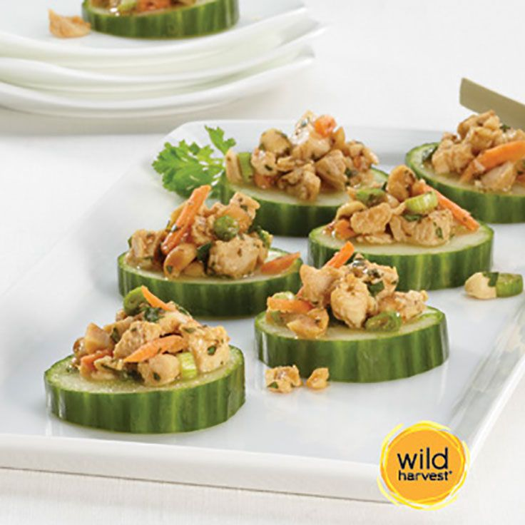 Thai Chicken Cucumber Bites by Wild Harvest. It's your turn! Pick. Pin. Dine & Enter to WIN a $500 Gift Card: http://shout.lt/ms2L