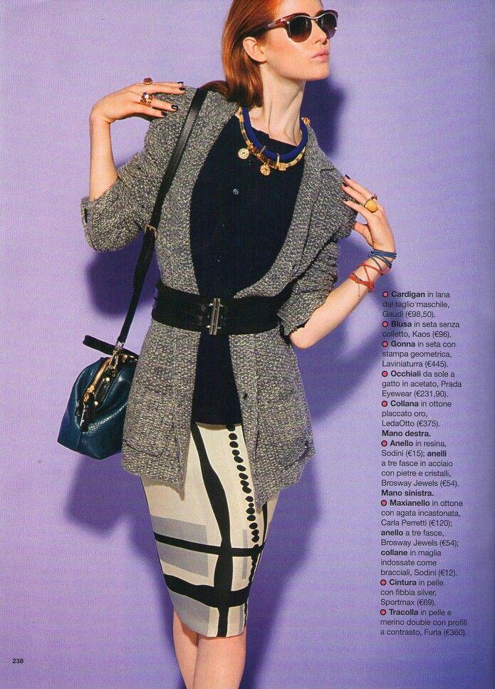 Glamour / agosto 2012 / gonna in organza di seta stampata laviniaturra