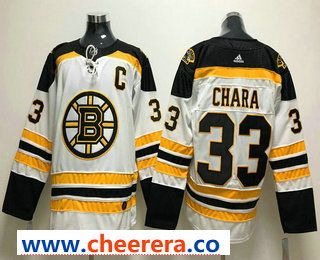 Men s Boston Bruins  33 Zdeno Chara Whit With C Patch 2017-2018 Hockey  Stitched NHL Jersey 260e7051d