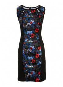 Floral-printed panel dress Multi-colour