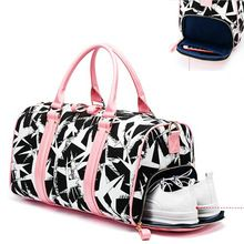 <Click Image to Buy> Women Pink Black Gym Bag Sports Bags Sernior Soft Canvas Ladies Yoga Storage Trianing Bag Fitness Bag New Printing Boarding Bags ** Find similar lovely pieces on  AliExpress.com. Just click the VISIT button.