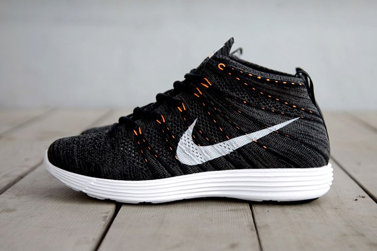 Nike Lunar Flyknit Chukka Midnight Fog/Black-Total Orange.  ~I'm dying to get my grubby lil hands on some Flyknits!~