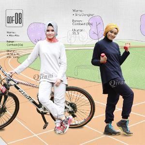 Baju Olahraga Sport Qirani Fresh Model QDF-08