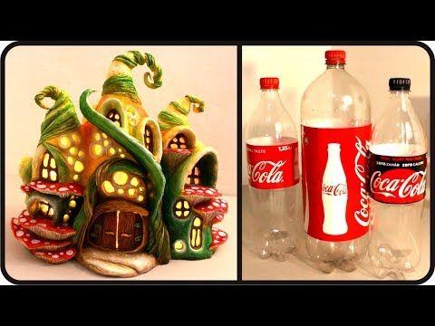 Coisas que Gosto: ❣DIY Enchanted Fairy House Lamp Using Coke Plastic...